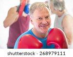 senior man posing posing in a... | Shutterstock . vector #268979111