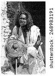 a somali warrior  vintage... | Shutterstock . vector #268983191