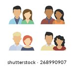 flat four various couples... | Shutterstock .eps vector #268990907