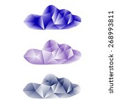 low poly clouds vector set. | Shutterstock .eps vector #268993811