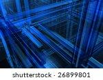 3d blue background   Shutterstock . vector #26899801