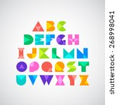 vector alphabet set | Shutterstock .eps vector #268998041