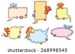 colorful speech bubble set with ... | Shutterstock .eps vector #268998545