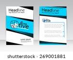 vector design for cover... | Shutterstock .eps vector #269001881
