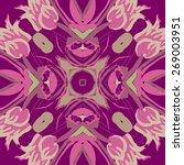 circular seamless pattern of... | Shutterstock .eps vector #269003951