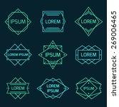 vintage geometric logo set ... | Shutterstock .eps vector #269006465