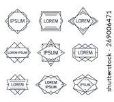 vintage geometric logo set ... | Shutterstock .eps vector #269006471