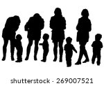 silhouette of a mother and... | Shutterstock .eps vector #269007521