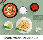 food illustration   thai food ... | Shutterstock .eps vector #269014811