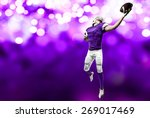 football player with a purple...   Shutterstock . vector #269017469