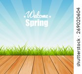 welcome to spring background... | Shutterstock .eps vector #269020604