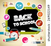 vector back to school title on