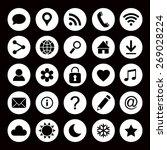 vector set of universal web... | Shutterstock .eps vector #269028224