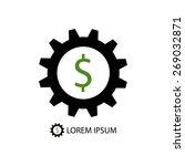 black gearwheel with dollar... | Shutterstock .eps vector #269032871