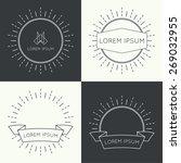 set of vintage hipster banners | Shutterstock .eps vector #269032955