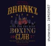 bronkz boxing club tee graphic | Shutterstock .eps vector #269035457