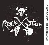 rock star poster. vector... | Shutterstock .eps vector #269036369