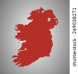 ireland. vector country shape... | Shutterstock .eps vector #269038271