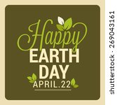 world earth day | Shutterstock .eps vector #269043161