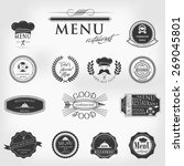 vintage typographic labels tags ... | Shutterstock .eps vector #269045801