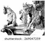 notre dame. fantastic animals... | Shutterstock . vector #269047259