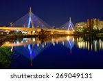Boston Zakim Bridge Sunset In...