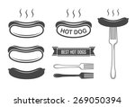 hot dog set | Shutterstock .eps vector #269050394