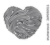 Black Heart Shape Finger Print