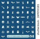 set of halloween icons | Shutterstock .eps vector #269053181