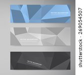 vector banners and triangles.... | Shutterstock .eps vector #269054507
