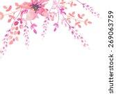 invitation card for wedding... | Shutterstock .eps vector #269063759