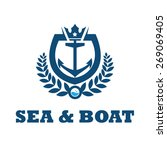 logo boat   anchor illustration | Shutterstock .eps vector #269069405
