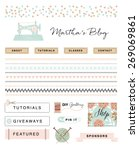 crafty blog kit illustration | Shutterstock .eps vector #269069861