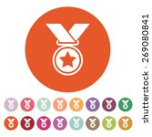 the medal icon. prize symbol.... | Shutterstock .eps vector #269080841