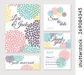 wedding invitation card set.... | Shutterstock .eps vector #269084345