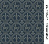 silver seamless pattern on a... | Shutterstock .eps vector #269088755