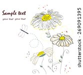 daisy flower doodle greeting... | Shutterstock .eps vector #269091395