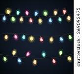 set of garland christmas lights ... | Shutterstock .eps vector #269092475