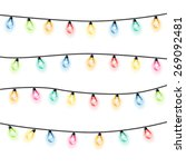 garland christmas lights white... | Shutterstock .eps vector #269092481