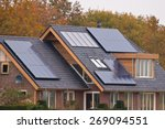 photovoltaic solar panels on... | Shutterstock . vector #269094551