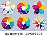 vector circle elements... | Shutterstock .eps vector #269098805