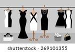 woman wardrobe accessories set. ... | Shutterstock .eps vector #269101355