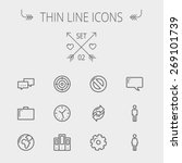 technology thin line icon set... | Shutterstock .eps vector #269101739