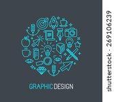 vector linear graphic design... | Shutterstock .eps vector #269106239
