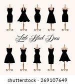 little black dress fashion... | Shutterstock .eps vector #269107649