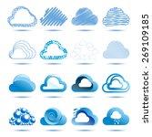 cloud abstract vector logo... | Shutterstock .eps vector #269109185