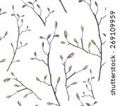 Watercolor Twigs Pattern....