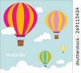 travel pattern of balloons.... | Shutterstock .eps vector #269115434
