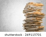 document  paper  file. | Shutterstock . vector #269115701