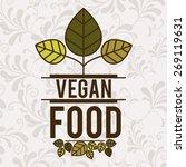 organic food design over white... | Shutterstock .eps vector #269119631